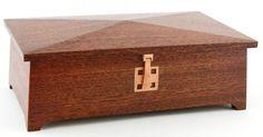Mahogany Keepsake Treasure Trinket Jewelry Box by BenchCrafts, $167.00