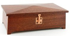 Mahogany Keepsake Treasure Trinket Jewelry Box Gentlemans Valet (made To Order)