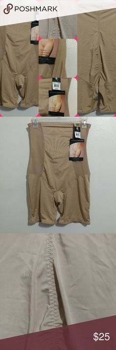NWT MARILYN MONROE SHAPE WEAR SIZE 2X MARILYN MONROE HIGH WAISTED SHORTS SIZE 2X NUDE COLOR VERY NICE SHAPER Marilyn Monroe Intimates & Sleepwear Shapewear