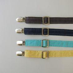 Suspenders  Solids by EvaandDell on Etsy, $21.00