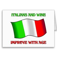 Italians And Wine, Improve With Age Cards