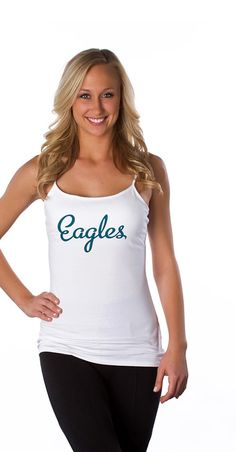 Look at this Philadelphia Eagles Double Team Camisole - Women by All Sport Couture Double Team, Team Wear, Philadelphia Eagles, Fashion Forward, Camisole, Nfl, Personal Style, That Look, Couture