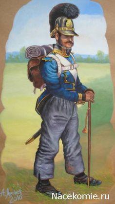 Napoleon's allies:  Bavarian infantry.   Наполеоновские войны - Планшеты