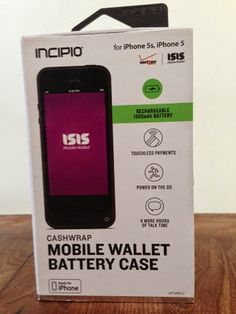 Incipio Cashwrap Mobile Wallet Battery Case for iPhone 5 is Isis Mobiile Wallet app ready. #MC #sponsored #tech #iphone5 #batterycase #case #tech