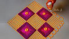 Diwali special rangoli 2018/ navratri special rangoli Easy Rangoli Designs Diwali, Diwali Special Rangoli Design, Rangoli Simple, Rangoli Designs Flower, Rangoli Border Designs, Small Rangoli Design, Rangoli Patterns, Colorful Rangoli Designs, Rangoli Ideas