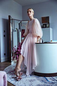 Viktoria Rader - STYLEBOP.com Exclusive Silk Dress with Chiffon Sleeves
