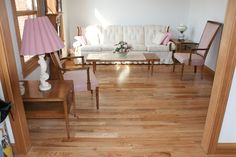 Red Oak Hardwood Flooring with Natural Finish