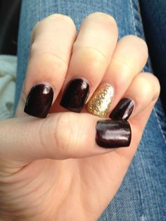 black  gold acrylic nails  nails  gold acrylic nails