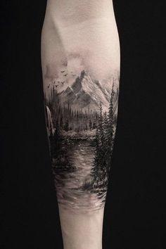 40 Landschafts Tattoo Ideen ~ Tattoo Motive - 40 Landschafts Tattoo Ideen La mejor imagen sobre diy crafts para tu g - Natur Tattoo Arm, Natur Tattoos, Trendy Tattoos, Tattoos For Guys, Cool Tattoos, Tattoos Pics, Tattoos Gallery, Tattoo Images, Tattoo Sleeve Designs