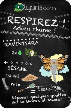 Satané rhume ? Vite, l'huile essentielle de ravintsara, en association, est excellente pour en venir à bout !