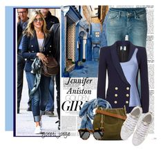 """""""Blazer"""" by goreti ❤ liked on Polyvore featuring mode, Murphy, 7 For All Mankind, Pierre Balmain, Roberto Cavalli, Levi's Made & Crafted, Chloé, Dsquared2, Illesteva et CelebrityStyle"""