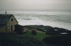 Also, the sound of the wind in the chimney and the waves rolling against the shore... Maybe I am homesick after all.