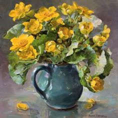 Kingcups | Mill House Fine Art – Publishers of Anne Cotterill Flower Art