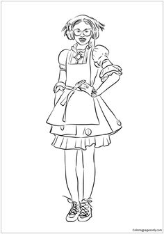 coloring pages for kids disney channel | Free Disney Descendants Coloring Pages | Disney Channel ...