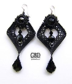 My Dreams - Пиковая Дама OK these are interesting!  Gorgeous black cut beads on the bottom!