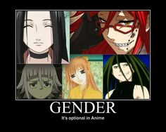 Gender: It's Optional in Anime by Angel-of-Alchemy-... on @deviantART It's funny because Grell, and Crona are all my favorite characters out of their particular animes!  :3