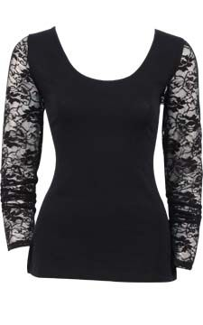 Lace Sleeve Top                                                                                      front view