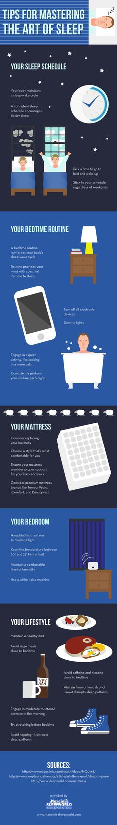 Hanging blackout curtains in the bedroom is a great way to minimize light and get a better night's rest. Discover other tips for getting better sleep by clicking over to this infographic from a mattress store in the Bay Area.