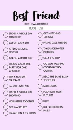bucket list for girls bucket list for best friends Teen Sleepover, Fun Sleepover Ideas, Sleepover Activities, Sleepover Party Games, Best Friend Dates, Best Friend Quiz, Best Friend Gifts, Best Friend Bucket List, Bucket List For Teens