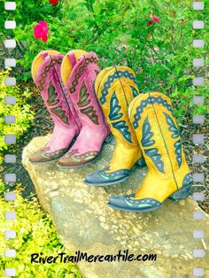 """Now that is what I'd call """"fancy"""" cowboy boots!"""