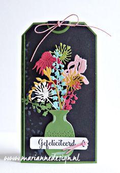 Long Flowers, Fresh Flowers, Marianne Design, Tim Holtz, Diy Cards, Gift Tags, Cardmaking, Stencil, Handmade