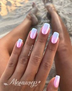 A manicure is a cosmetic elegance therapy for the finger nails and hands. A manicure could deal with just the hands, just the nails, or Hot Pink Nails, Pink Nail Art, Pink Chrome Nails, Pink Summer Nails, Ombre Nail Colors, Pink Ombre Nails, Nail Tip Colors, Nail Art Rose, Ombre Nail Art
