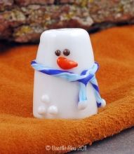 Snowman Glass Sewing Thimble