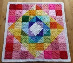 Ravelry: debbieredman's Geometric Rainbow Granny Square Blanket