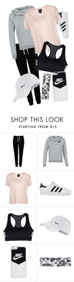 """""""Untitled #67"""" by aelgreen-1 on Polyvore featuring George, NIKE, Topshop and adidas"""