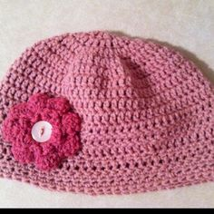 I love this hat and it really wasn't hard to make. You can find the videos on youtube to make the flower.