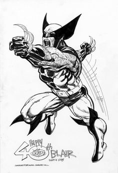 Wolverine commission by John Byrne. 2008.