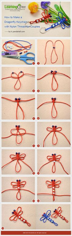 How to Make a Dragonfly Keychain with Nylon Thread for Couples: