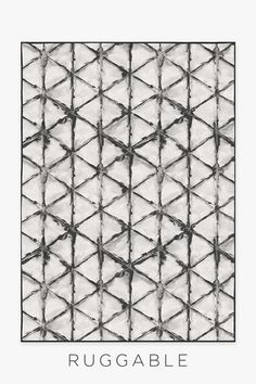 Inspired by the ancient Japanese art of hand-resist dyeing, our Diamond Shibori Charcoal rug showcases an organic diamond motif in hues of greys and whites. Washable Area Rugs, Machine Washable Rugs, Skull Rug, Map Rug, Nautical Rugs, Black White Rug, Ancient Japanese Art, How To Order Coffee, Geometric Rug