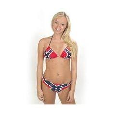 American flag bikini huge boobs old woman