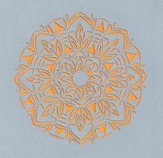 Grey hand cut design, Clare Pentlow