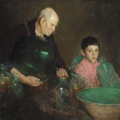 Refining Oil by Charles Webster Hawthorne (American 1872-1930)