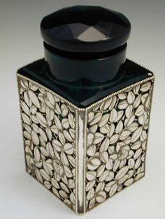 Wiener Werkstatte Silver & Glass Scent Bottle by Joseph Hoffman