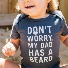 Throughout history beards have been a sign of manliness and strength. So, let the world know your child is in good hands with our most popular design. Each one