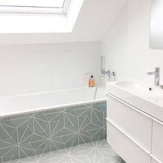 bathroom tile grey fireclay