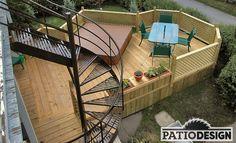 Patio avec SPA Spa, Construction, Railings, Deck, Outdoor Decor, Design, Home Decor, Courtyards, Patio Ideas