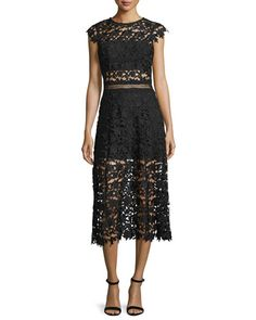Shop women's evening dresses at Neiman Marcus. Show up your guests with our selection of gorgeous gowns and dresses. Black Lace Midi Dress, Floral Midi Dress, Lace Skirt, Black Evening Dresses, Neiman Marcus, Short Dresses, Mini Skirts, Polyvore, Fall 2016