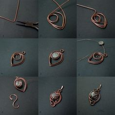Picture wire jewelry tutorial - pendant with beads or could be used for earrings.