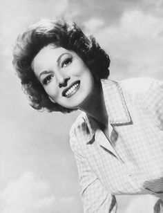 Actress Maureen O'Hara Smiling