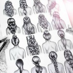 curly hair drawing | Tumblr