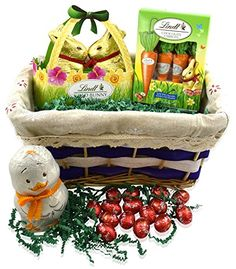 There are certain things that make an easter morning unforgettable lindt easter gift basket lindt gold bunny basket 35 ounce lindt easter truffle eggs 44 oz negle