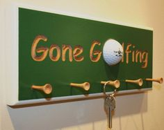 Gone Golfing keyring holder by jamesandme on Etsy, $40.00