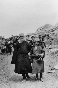H.H Dalai Lama with youngest brother Tenzin Choegyal during escape 1959