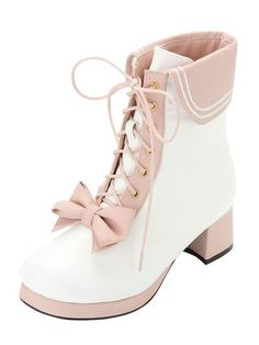 FREE SHIPPING Lolita Bow Heeled Boots from Moooh!! | shopswell