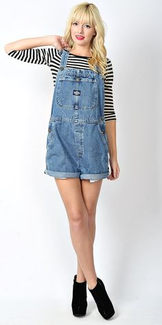 Overalls and stripes #vintage #etsy #overalls