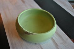 Shabby Chic Lime Green Wooden Bowl by GracefulOfferings on Etsy, $15.99